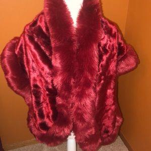 Fancy faux fur shoulder wrap for dresses. New!